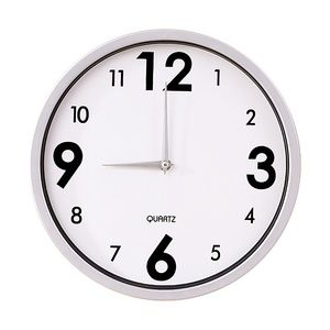 "12"" Wall Clock   WHITE"